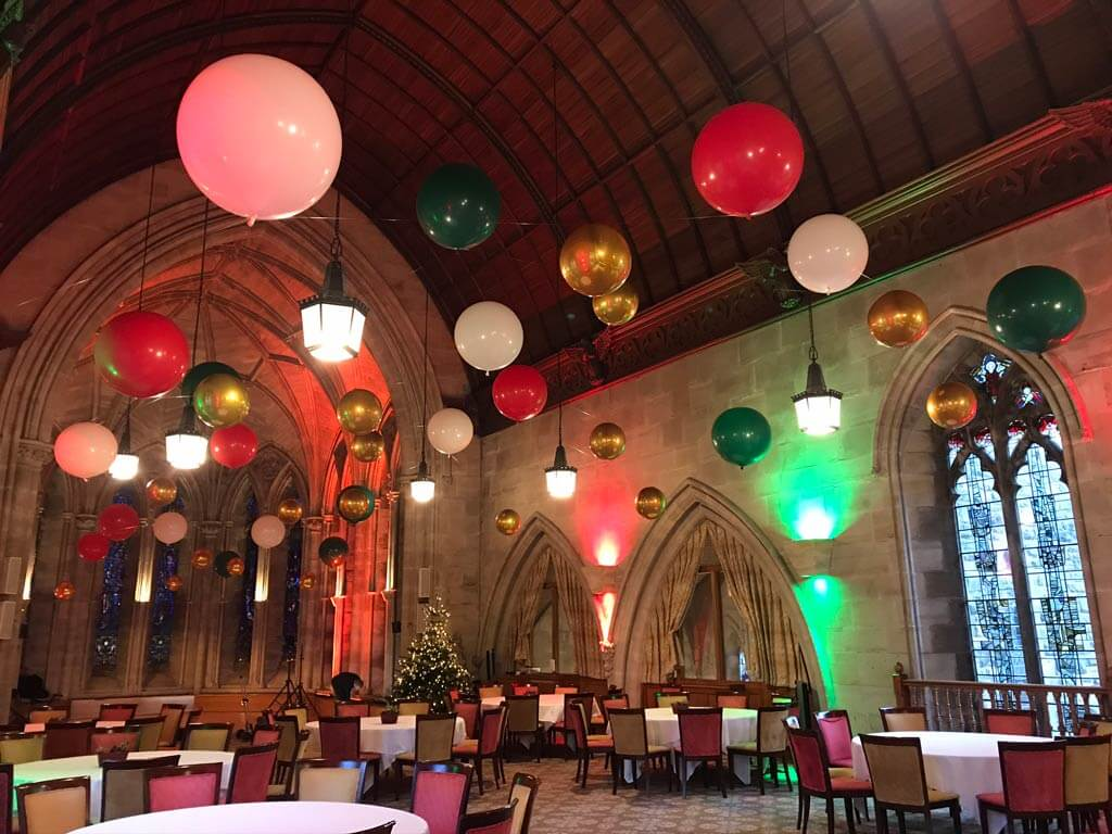 Ashdown Park Hotel and Country Club suspended balloon ceiling Airmagination East Sussex 1