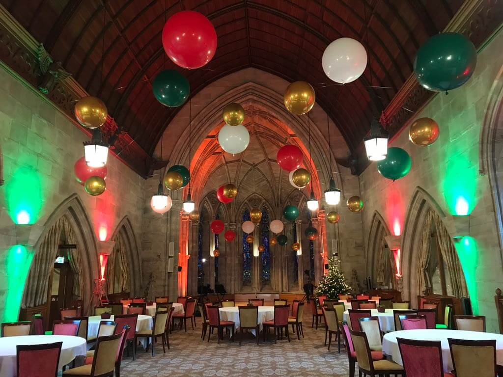 Ashdown Park Hotel and Country Club suspended balloon ceiling Airmagination East Sussex 2