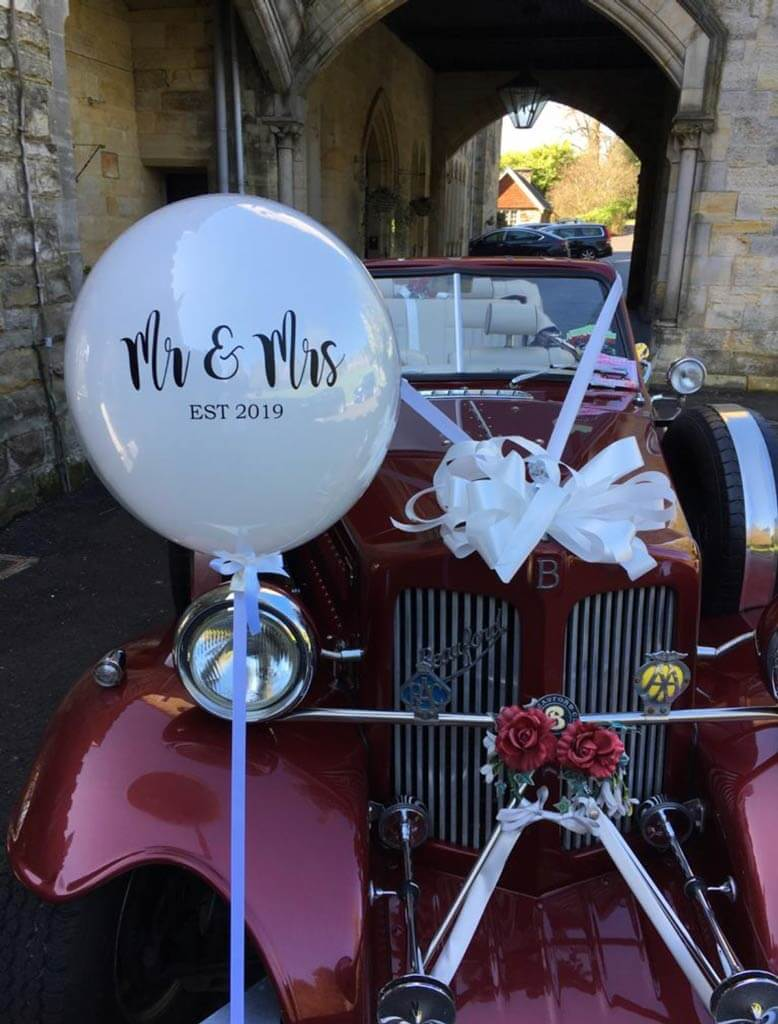 Ashdown Park Hotel and Country Club wedding Mr and Mrs established personalised wedding balloons Airmagination East Sussex 1
