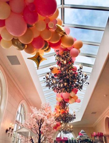 Birthday party organic ceiling garland in Surrey