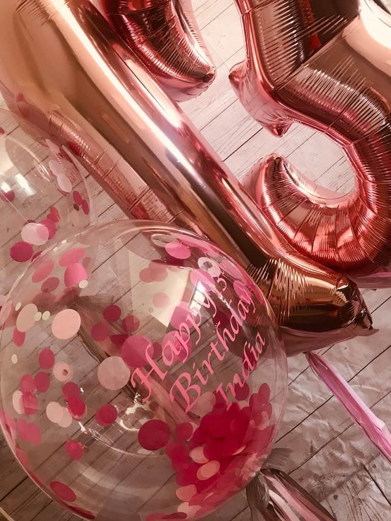 Confetti bubble birthday bunch Airmagination Farnham