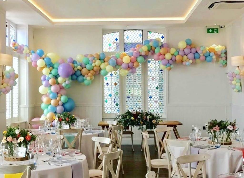 Harbour Hotel Brighton organic pastel balloon installation Airmagination East Sussex 2