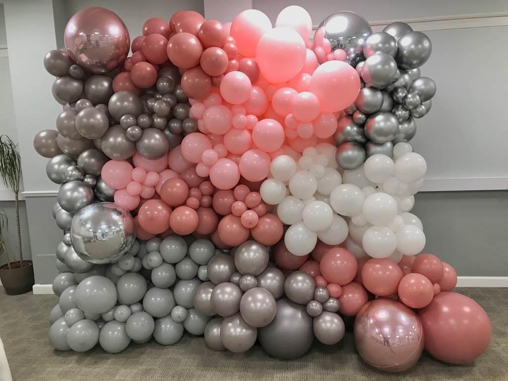 Highfield Park Hotel organic balloon wall Airmagination Hook Hampshire