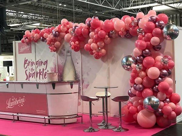 Lambrini This Morning Live organic balloon installation at the Birmingham NEC