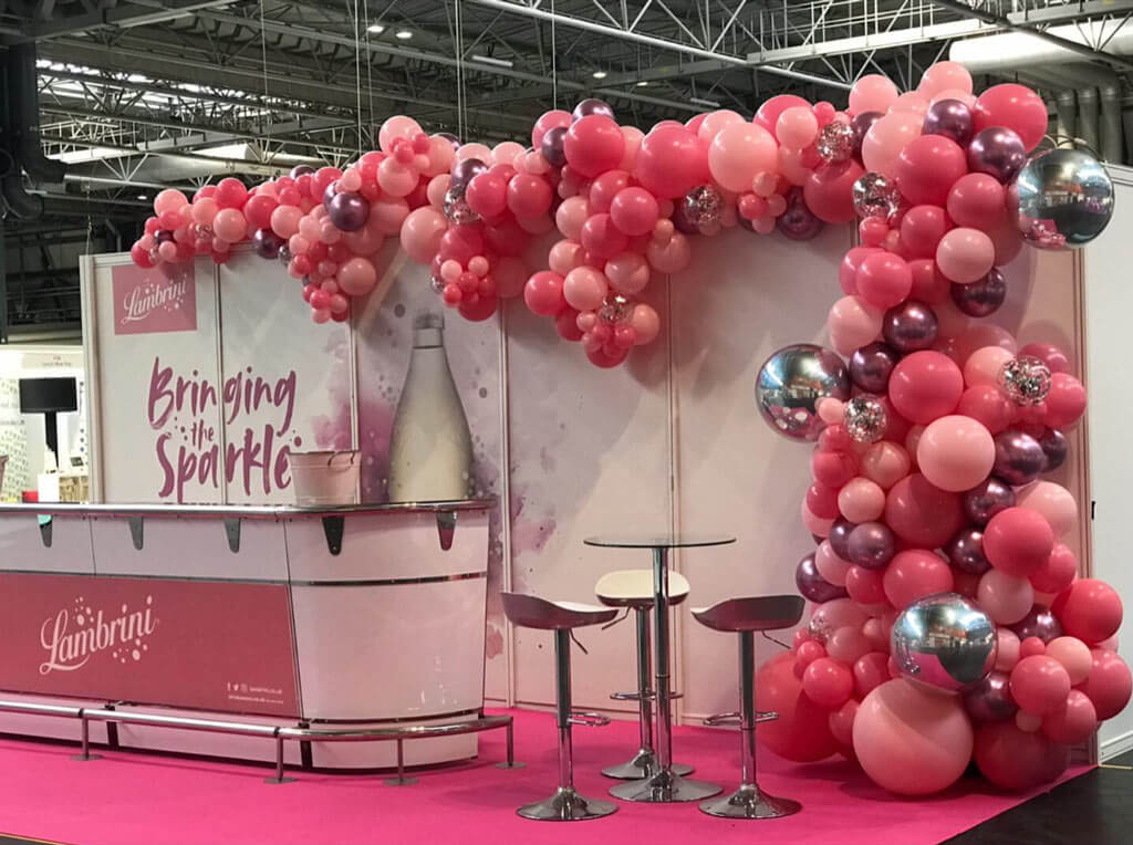 Lambrini This Morning Live organic balloon installation Airmagination at Birmingham NEC 1