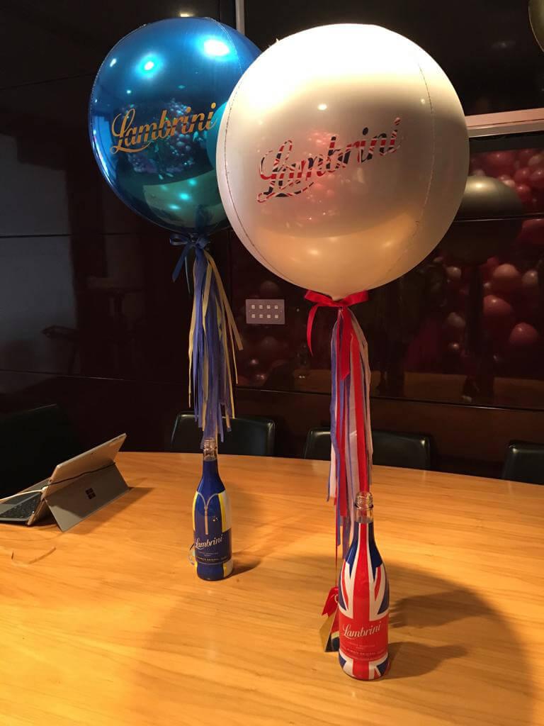 Lambrini balloon orbs Spice Girls concert Airmagination Wembley Stadium