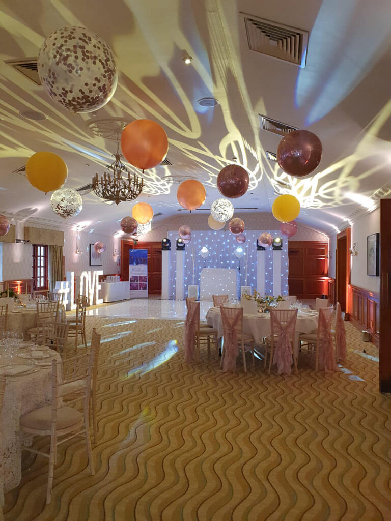 Pennyhill Park suspended balloon ceiling Airmagination Surrey 3