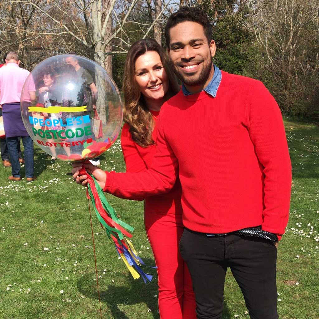 Peoples Postcode Lottery confetti bubble balloon Airmagination Danyl Johnson
