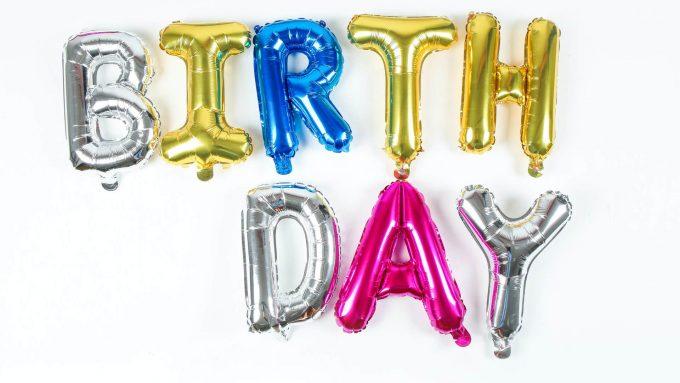 Foil balloons for Birthdays