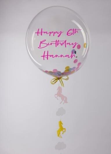 unicorn decaled bubble balloon 2