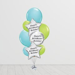 Lime Green and Blue Banging Bunch Balloons